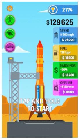 download rocket sky